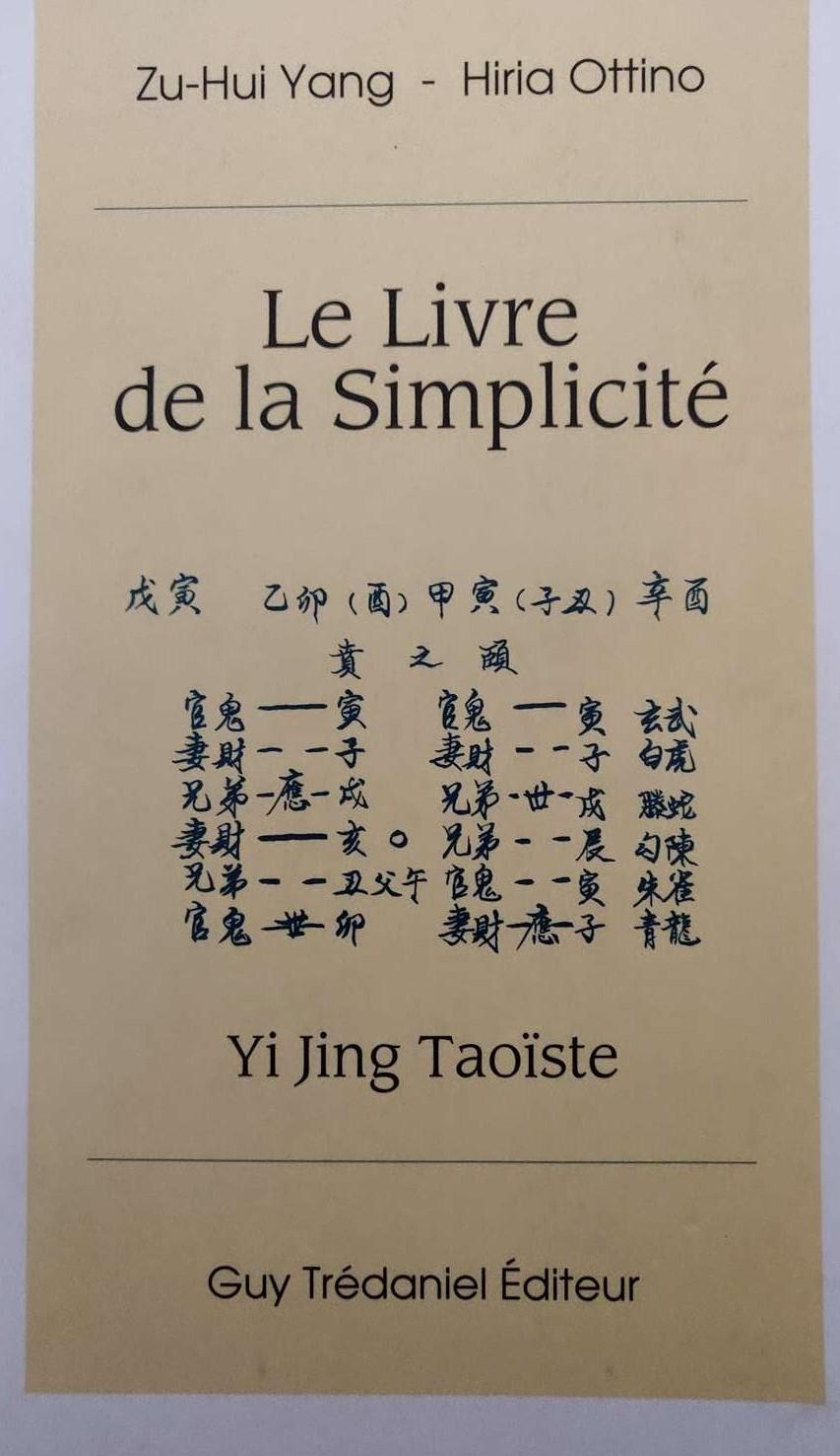 Le livre de la simplicité, Yi Jing - Feng Shui tradition